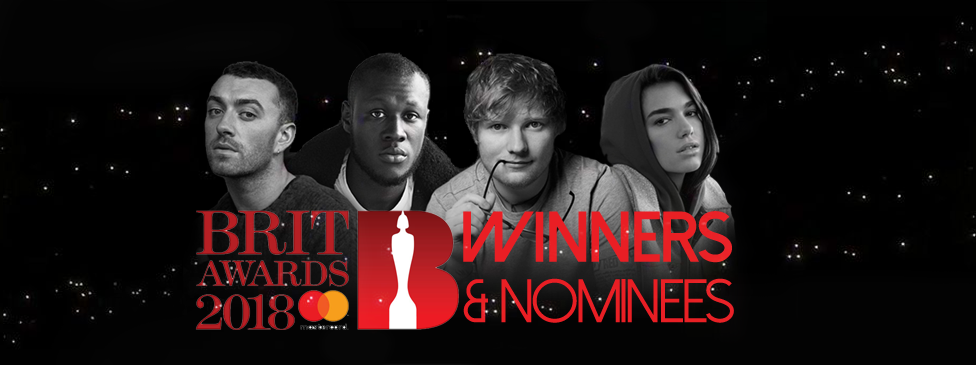 BRIT AWARDS 2018 WINNERS & NOMINEES